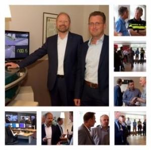 wethouder Welman en parkmanager Van Mast openen het cameratoezicht